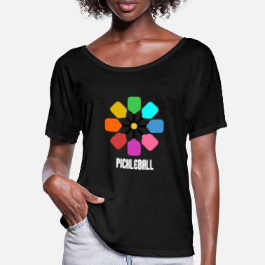 Paddel Pickleball Paddel - Frauen Fledermaus T-Shirt