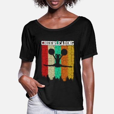 Cheerleading cheerleading - T-shirt manches chauve-souris Femme