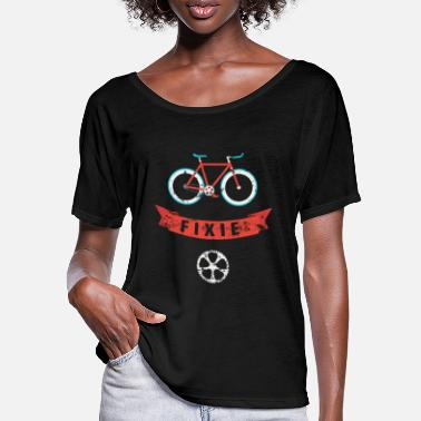 Sprocket Fixie - Fixed Gear single speed bike, distressed - Women's Batwing T-Shirt