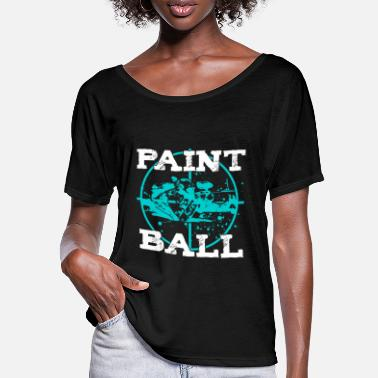 Speedball Paintball Player Min Paintball Speedball Airsoft - T-shirt med flagermusærmer dame