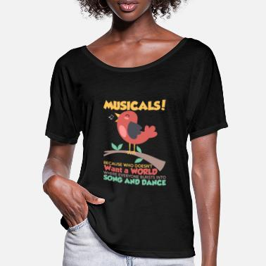 Musical Musicals Song And Dance - T-shirt med flagermusærmer dame
