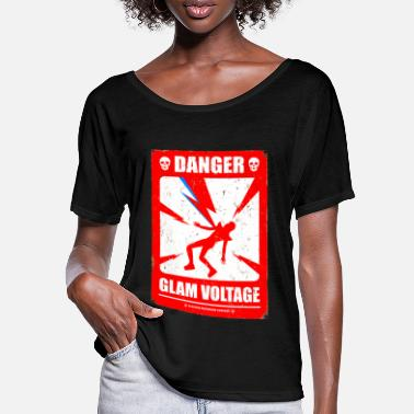 Glam Rock Danger Glam Voltage - Women's Batwing T-Shirt