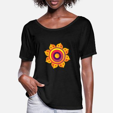 LOTUS RAD - Frauen Fledermaus T-Shirt