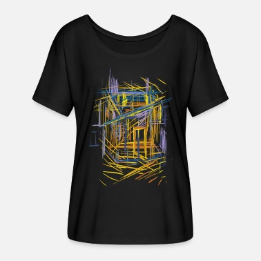 Abstract Architecture sketch - Women's Batwing T-Shirt