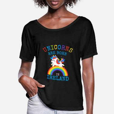 Pride Unicorns are born in Ireland.Funny Irish Gifts Kid - Women's Batwing T-Shirt