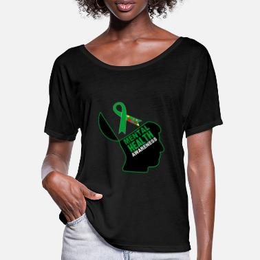 Mental Health Be aware that mental health is important - Women's Batwing T-Shirt