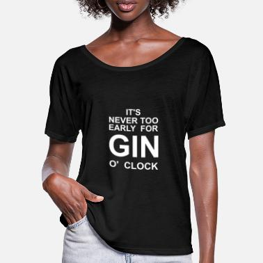 Clock Gin o' Clock - Frauen Fledermaus T-Shirt
