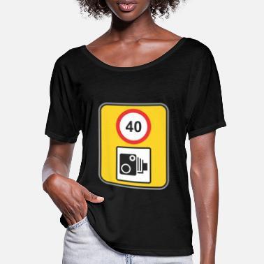 Road Sign Road sign speed check 40 - Women's Batwing T-Shirt