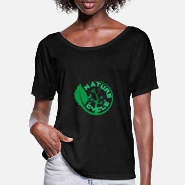 Flow Nature Cycle Veggie Gruen Pflanze Baum - Frauen Fledermaus T-Shirt