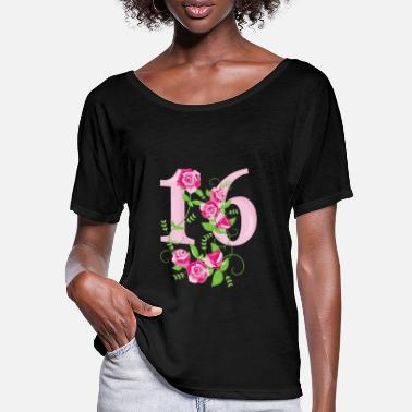 16th Birthday 16th birthday number 16th sixteen birthday - Women's Batwing T-Shirt