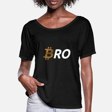 Coin Bitcoin better than fiatmoney coin BRO currency - Women's Batwing T-Shirt
