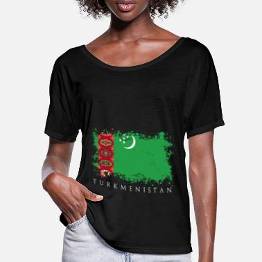 Central Asia Turkmenistan Central Asia flag flag country - Women's Batwing T-Shirt