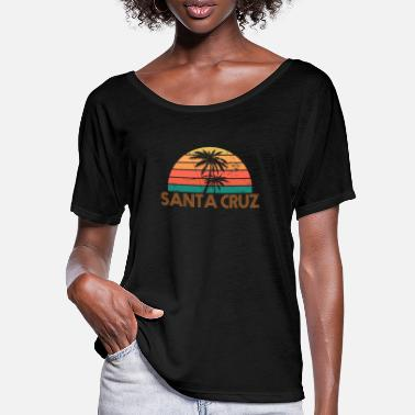 Santa Santa Cruz Vintage Retro 70s Throwback - Women's Batwing T-Shirt