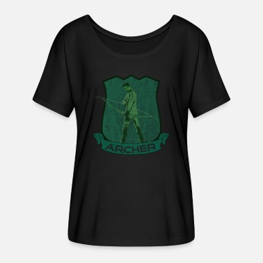 Archer Coat of Arms Bow og Arrow Sport - T-skjorte med flaggermusermer for kvinner