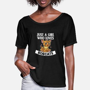 Rotluchs Just A Girl Who Loves Bobcats Rotluchs Kostüm - Frauen Fledermaus T-Shirt