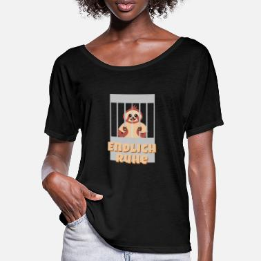 Prison Sloth Lazy Prison Finally Calm Funny Jail - Women's Batwing T-Shirt