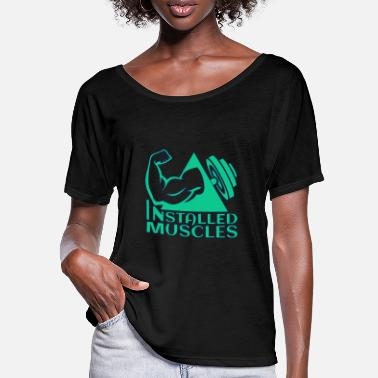 Installation installations - T-shirt manches chauve-souris Femme