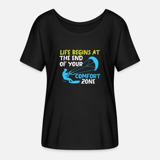 Aquatics T-Shirts - Kiteboard - Women's Batwing T-Shirt black