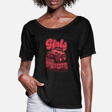 GIRLS LIKE MONSTER TRUCKS TOO Monster Truck - Women's Batwing T-Shirt