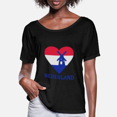 Holland Holland Herz - Frauen Fledermaus T-Shirt