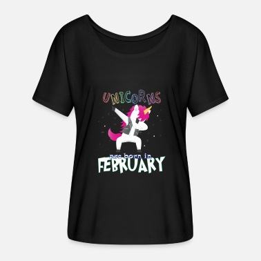 Born In Born Unicorns-Born February - Women's Batwing T-Shirt