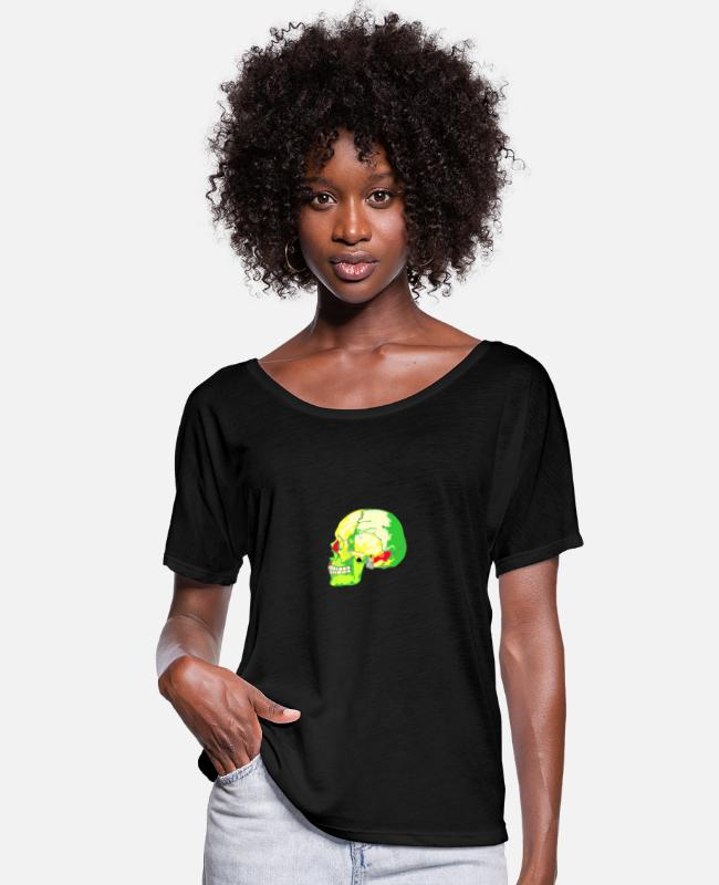 Skull T-Shirts - skull bright - Women's Batwing T-Shirt black