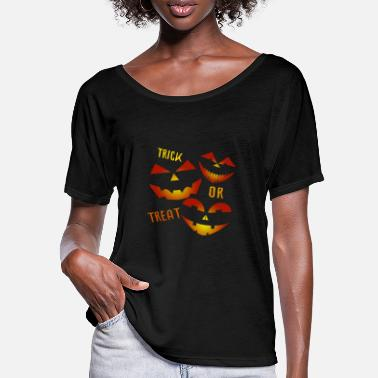 Trick Trick or Treat Trick or treat - Women's Batwing T-Shirt