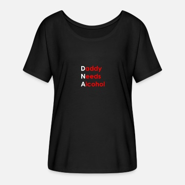 DNA Alcohol - Frauen Fledermaus T-Shirt
