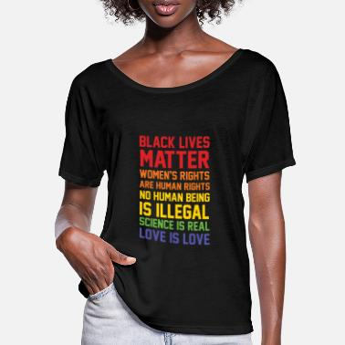 Black BLACK LIVES MATTER LIST SHIRT - Women's Batwing T-Shirt