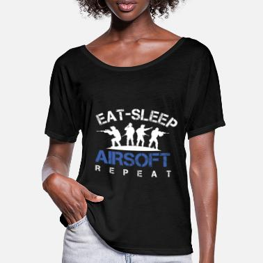Air Gun Eat Sleep Airsoft Repeat Airsoft Guns Air Guns - Women's Batwing T-Shirt