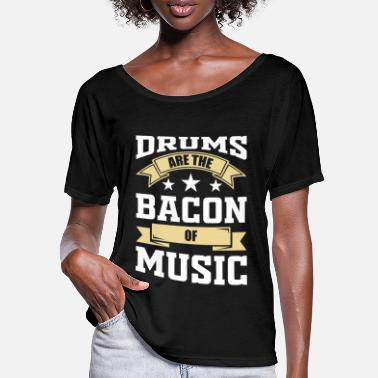 Percussive Instrument Drummer drummer music percussion instrument gift - Women's Batwing T-Shirt