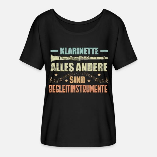 Gift Idea T-Shirts - Clarinet witty sayings gift - Women's Batwing T-Shirt black
