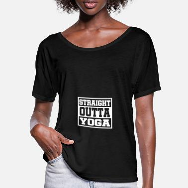 Outta Lige outta yoga - T-shirt med flagermusærmer dame