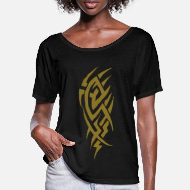 Tribal tribal tattoo - T-shirt med flagermusærmer dame