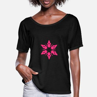 Snow Crystal A snow crystal - Women's Batwing T-Shirt