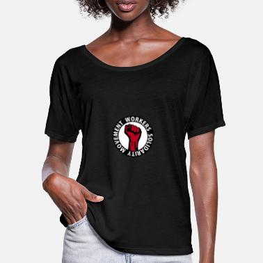 Working 3 colors - Workers Solidarity Movement - Working - T-shirt med fladdermusärmar dam