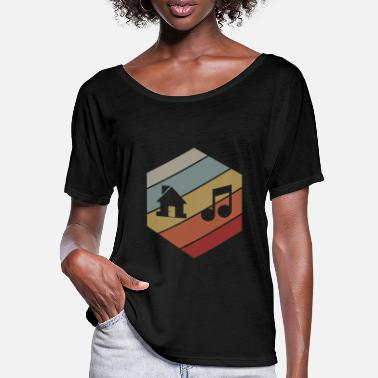 House House Music - Frauen Fledermaus T-Shirt