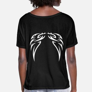 Ornament tattoo wings - Women's Batwing T-Shirt