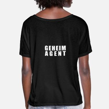 Secret Agent secret agent - Women's Batwing T-Shirt