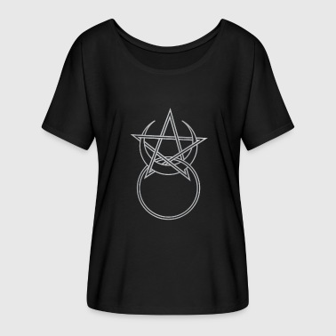 Pagan Horned God Symbol with a Pentagram - Women's Batwing-Sleeve T-Shirt by Bella + Canvas