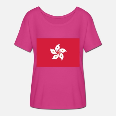 Descendance Drapeau national de Hong Kong - T-shirt manches chauve-souris Femme Bella + Canvas