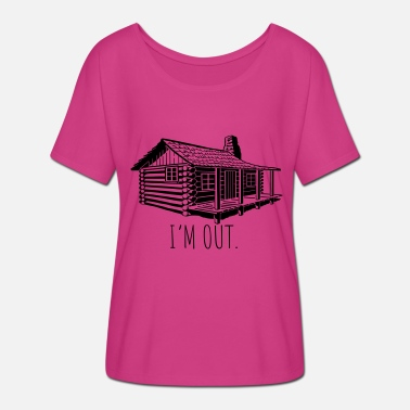 Cabins in the out cabin - Women's Batwing-Sleeve T-Shirt by Bella + Canvas