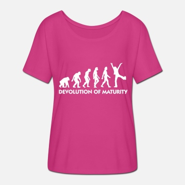 Mature The Evolution Of Maturity - Women's Batwing T-Shirt