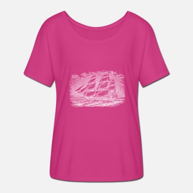 Shipping ship - Women's Batwing-Sleeve T-Shirt by Bella + Canvas