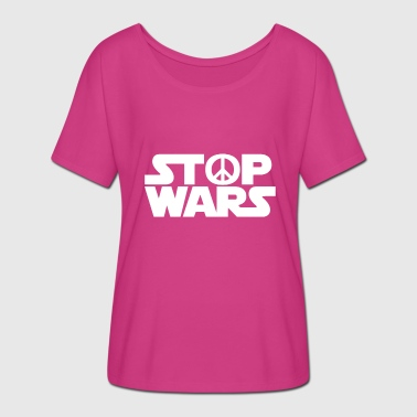 Stop War Stop War -Stop Wars - - White - Women's Batwing-Sleeve T-Shirt by Bella + Canvas