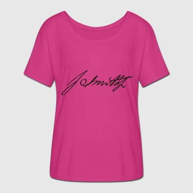 Joseph Joseph Smith Jr Signature - T-skjorte med flaggermusermer for kvinner fra Bella + Canvas