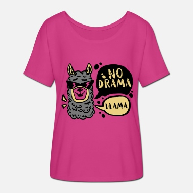 Drama School NO DRAMA - LLAMA - Women's Batwing-Sleeve T-Shirt by Bella + Canvas