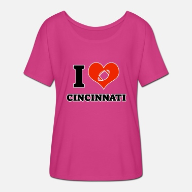 Cincinnati Bengals I love Cincinnati - Women's Batwing-Sleeve T-Shirt by Bella + Canvas