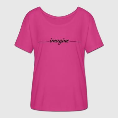 Imagination IMAGINE - T-shirt manches chauve-souris Femme Bella + Canvas