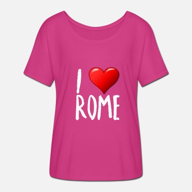 I Love Rome I love Rome - Women's Batwing-Sleeve T-Shirt by Bella + Canvas